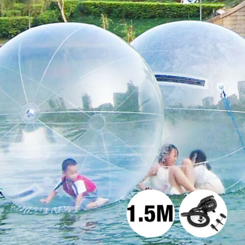 1.5m Water Walking Walker Zorb Ball Inflatable PVC Floating Backyard GOOD