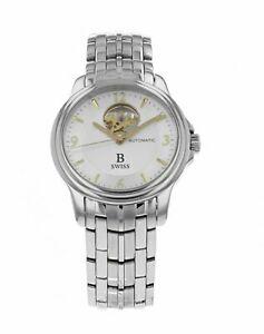 B-Swiss-by-Bucherer-Prestige-Open-Heart-Men-039-s-Automatic-38mm-Watch-50501-08-16-2
