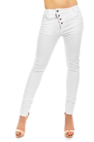 Pantaloni donna jeans jewelly by lexxury jeans a sigaretta skinny stretch Denim Nuovo