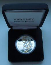 2014 Latvia 5 euro Baroque of Courland gold plated silver collector coin !!!!!!