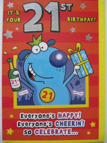 Fantastique drôle son votre 21ème anniversaire obtenir la bière dans carte de voeux anniversaire
