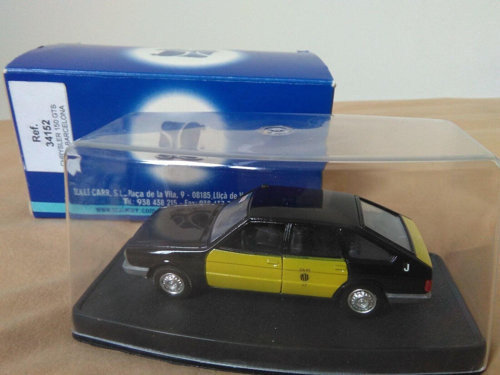 Antigua miniatura 1 43 Scale voiturer 34152 Chrysler 150 GTS Taxi de Barcelona.