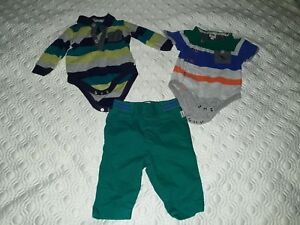 """Mixed Items & Lots Clothing, Shoes & Accessories 3 Piece Baby Boy Bundle 0-3 Months Clothes """"ted Baker"""" Used V Good Condition"""