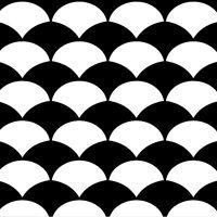 Stencil Design fish Scale - Craft Template - By Cutting Edge Stencils