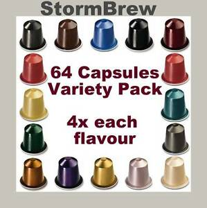 64-NESPRESSO-CAPSULES-Variety-Selection-Starter-Pack-4x-Each-Coffee-Blend-Pods