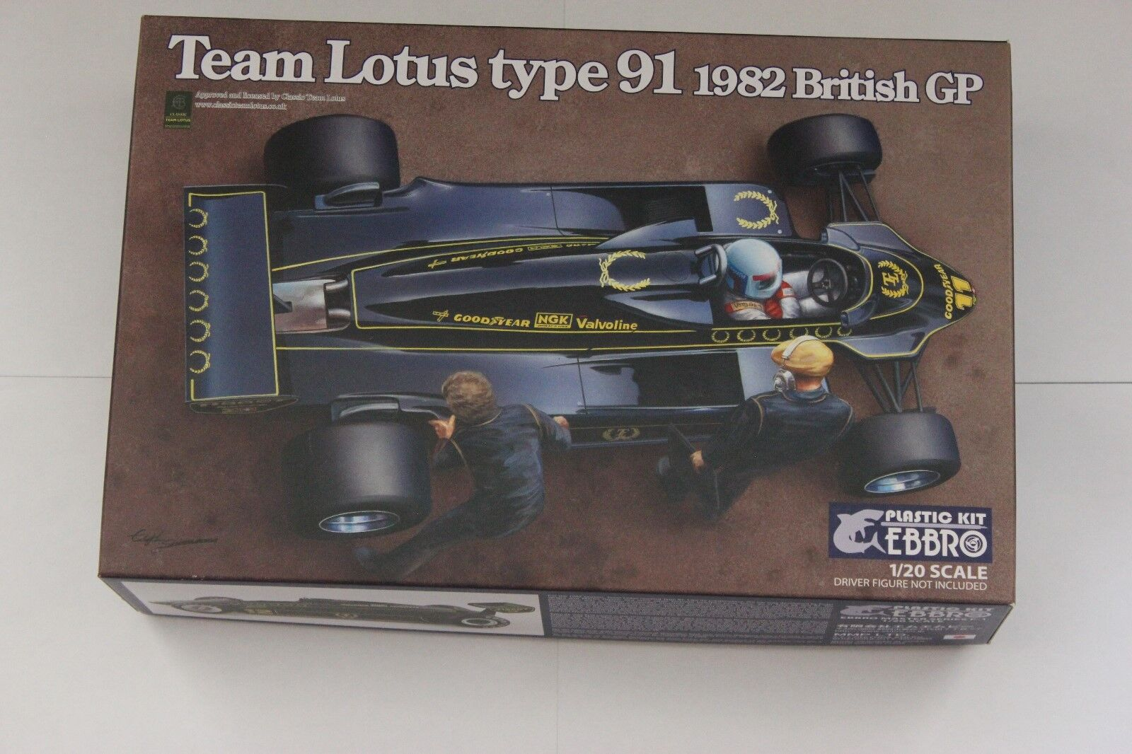 Ebbro Team Lotus Type 91  1982 British GP. No 021-5800