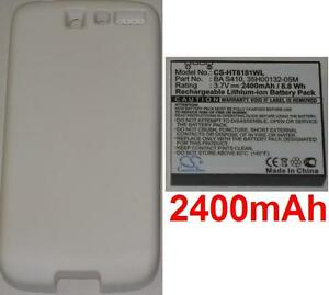 White-Shell-Battery-2400-MAH-Type-BA-S410-BAS410-for-HTC-A8181