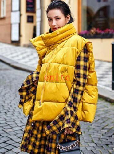 lana allentato per di Gilet donna oversize senza in cotone maniche FCw5CXq