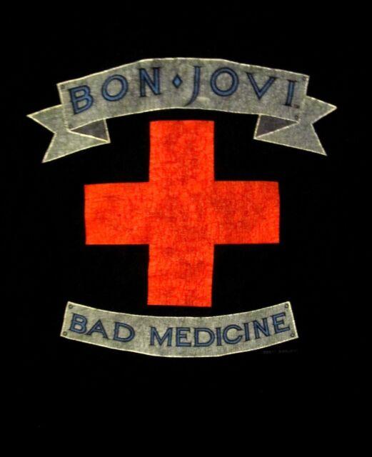 BON JOVI cd lgo New Jersey BAD MEDICINE Official SHIRT XL New