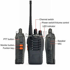 5W 400-470MHz 16CH Two-way Ham Radio Handheld Walkie Talkie Baofeng-888S