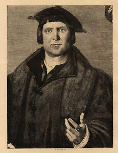 Hans-Holbein-Portrait-d-039-un-homme-Eau-Forte-Etienne-Bocourt-L-039-art-XIXe
