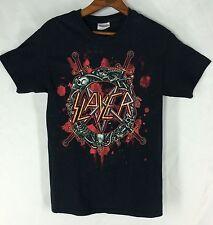 Slayer Thrash Heavy Metal Rock Band Black Cotton T Shirt Adult Size Small S