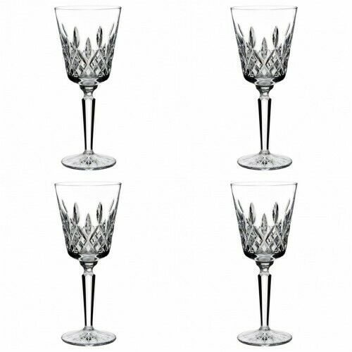 Waterford Cristal Lismore Tall coupe 8 oz (environ 226.79 g) 4 Gobelet verres NOUVEAU   6133180200