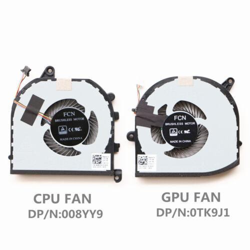 Dell XPS15 9570 Cpu Cooling Fan Gpu Cooling Fan DP//N:008YY9 DP//N:0TK9J1