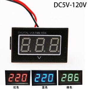 DC 5-120V LED Volt Meter Battery Voltage Gauge Digital Panel Electric Carts RED