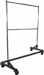5 Foot Adjustable Height Commercial Double Rail Rolling Z