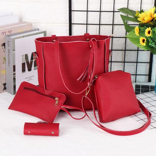 Portable Women Lady Tote Purse Woman Bag Set Shoulder Bags Female Handbag