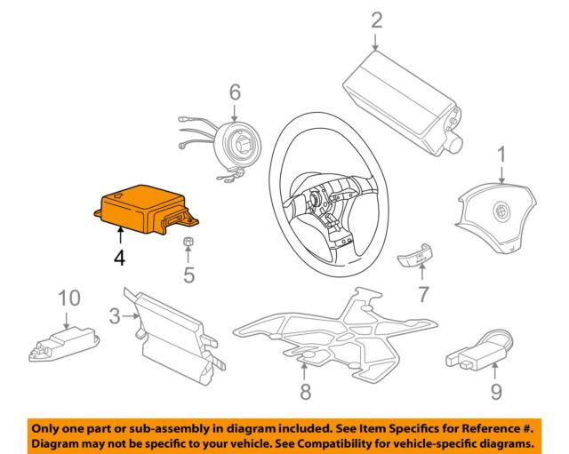 BMW OEM 00-02 Z3 Air Bag Airbag-control Module 65776908896