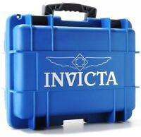 Invicta 8 Slots Impact Diver Box/case Blue & Gray Impact Resistant Case