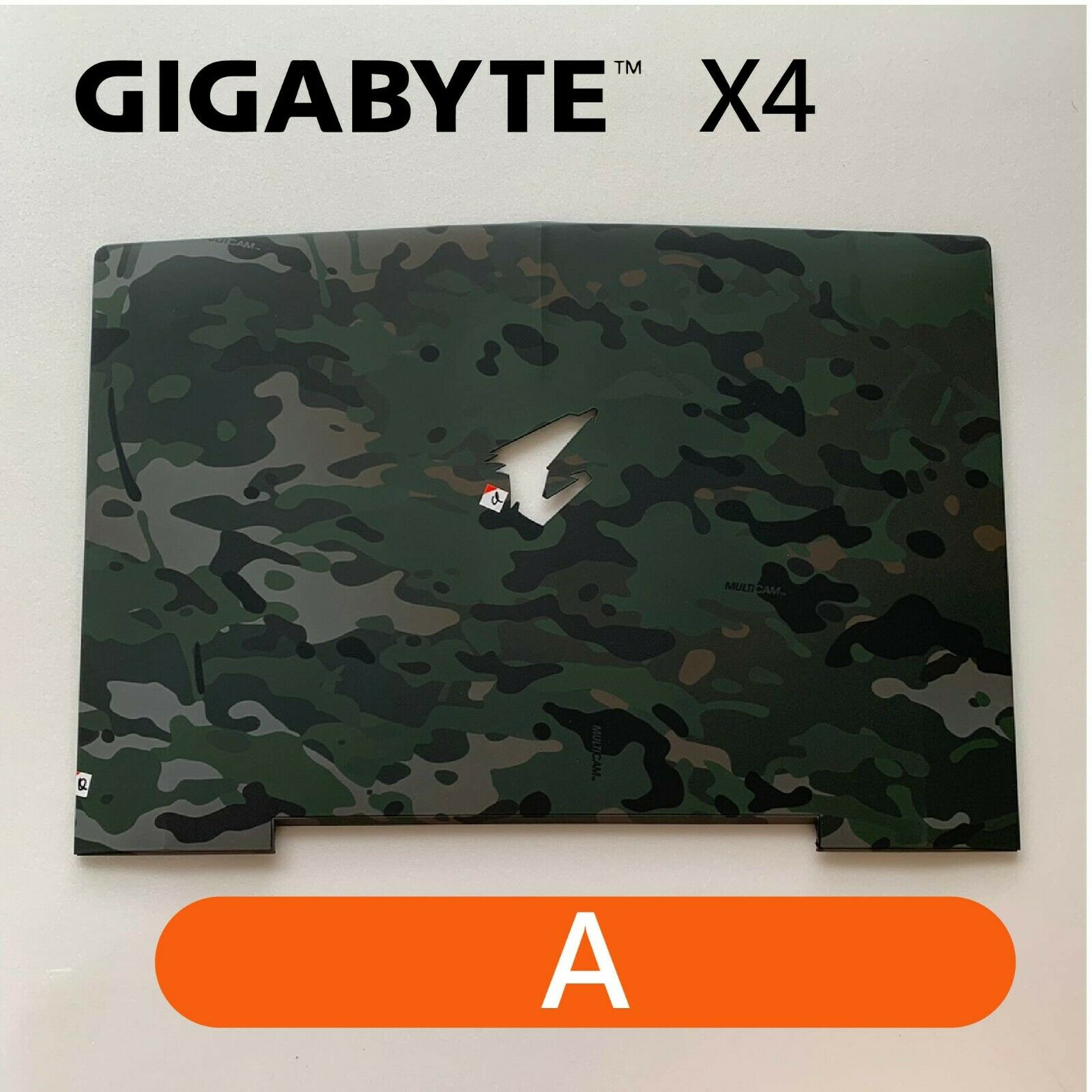 【2p3c】Replacement for GIGABYTE X4 Laptop LCD Cover : A(Rear Top Lid Back Cover)