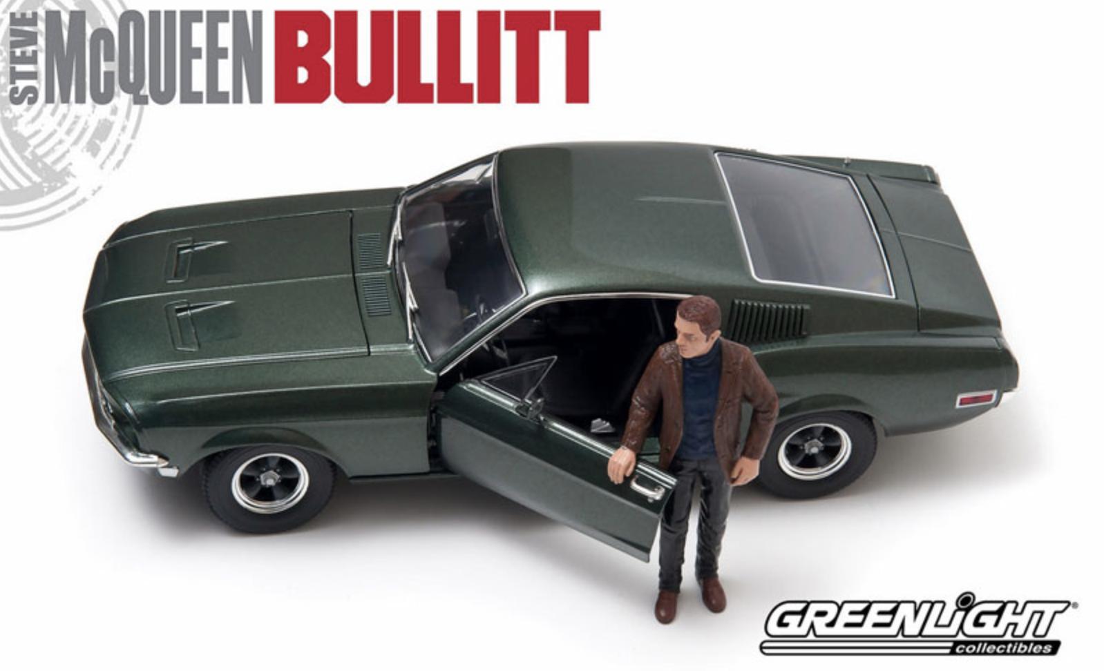 1968 mustang bullitt 1,18 Grünlight 12938 grünen steve mcqueen