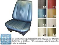 1970 Chevelle White Front Buckets Seat Covers - Pui