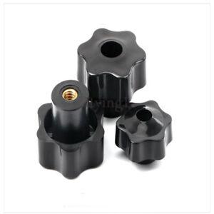 10pcs-M5-Thread-Star-Clamping-Nut-Knob-Screw-On-Black-Manual-Nuts