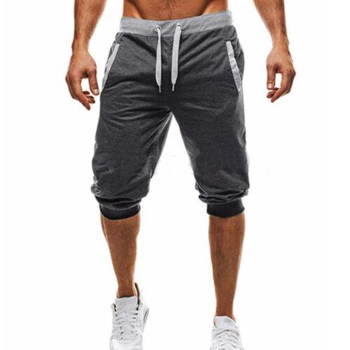 Men Summer Casual Gym Sport Shorts Lace Up Sweat Tracksuit Pants Trouser Jogging