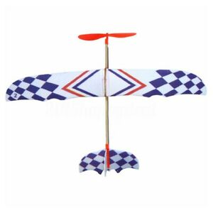 Elastic-Rubber-Band-Powered-DIY-Foam-Plane-Model-Kit-Aircraft-Educational-Toy-DW