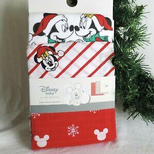 DISNEY-3er-SET-Mull-Tuch-MICKEY-amp-MINNIE-Weihnachten-70x70cm-Spucktuch-Baby