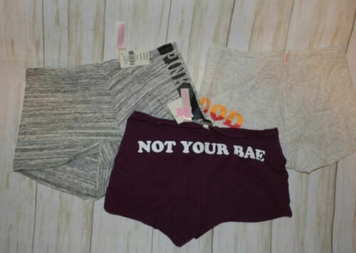 Details about  /Victoria Secret Pink nwt 3 pair panties Small low rise boyshort #29 not your bae