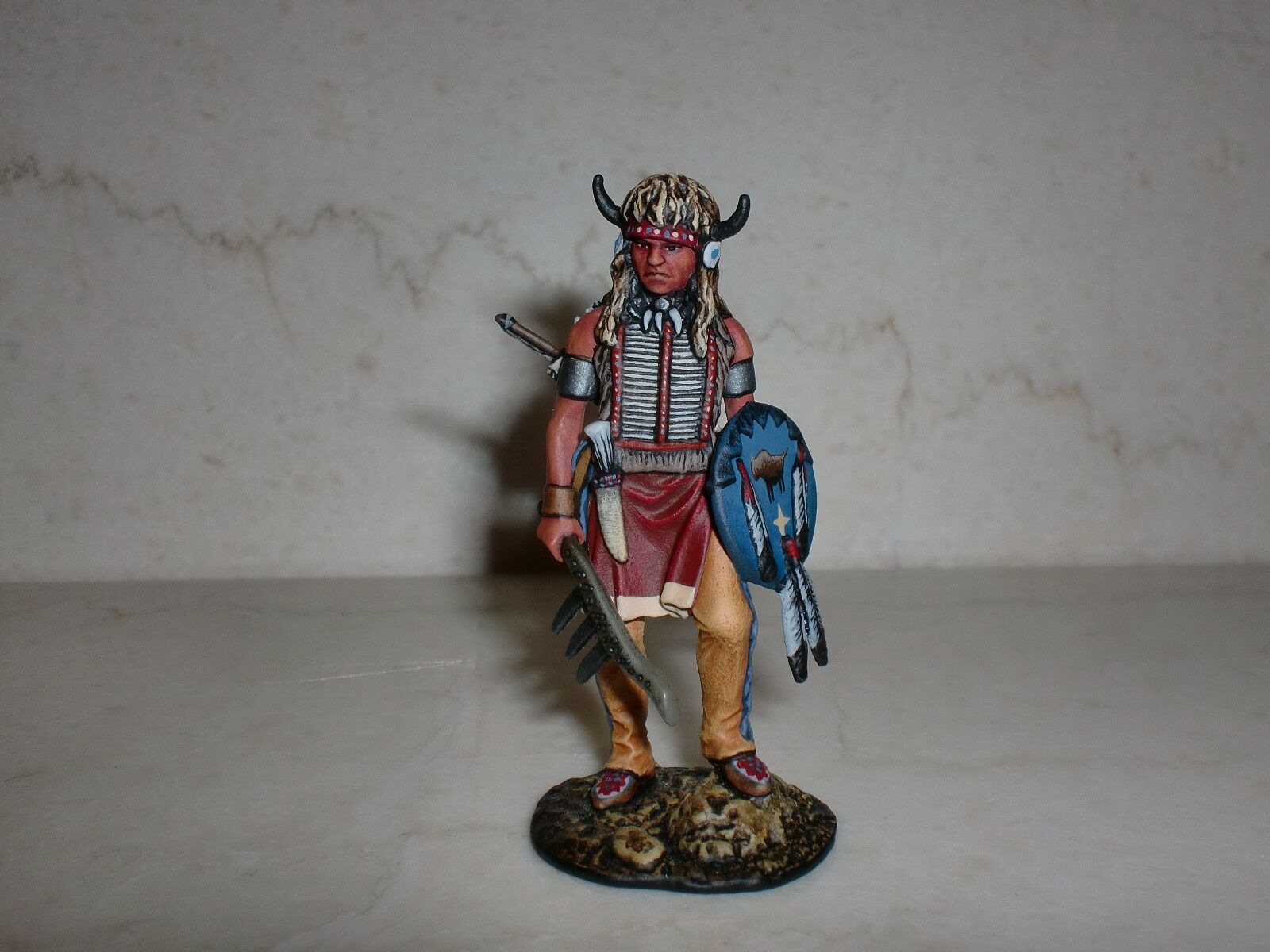 Lead soldier toy.USA. Sioux Warrior,detailed toy,detailed,Elite.handpainted
