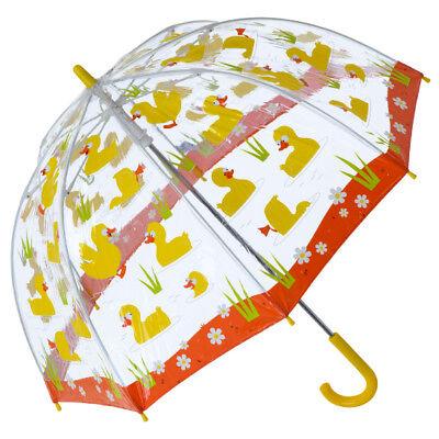 Boy Bugzz UMBRELLA Children Kids PVC Clear Dome Design Brolly Colourful Girl