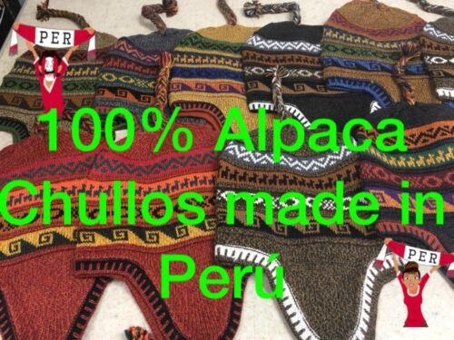 175396880fa NEW BLUE DARK GRAY reversible peruvian alpaca chullo hat -  26.99 ...