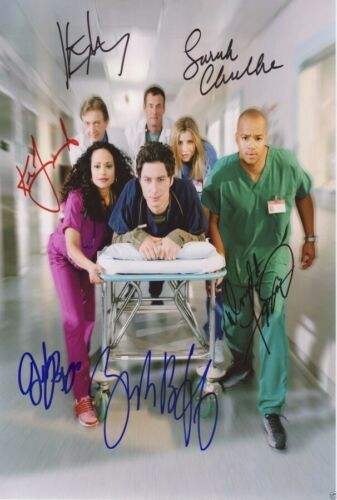 Scrubs Tv Show Poster Cast Multi Signed Autograph PRINT 6x4/' Gift