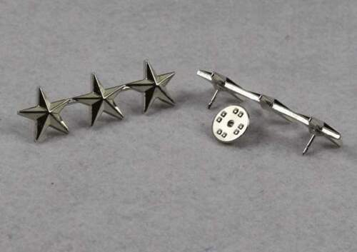 WW2 Pair Of WW2 US Army Officer 3 Star Lieutenant General Rank Badges Pin US11