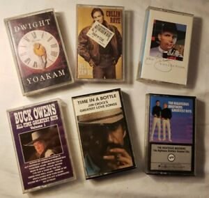 Lot of 6 cassette tapes by Various Country Artists(Cassettes)