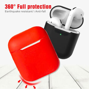 Silicone Case For Apple Airpods 1 2 Wireless Charging Case Protective Cover Ebay