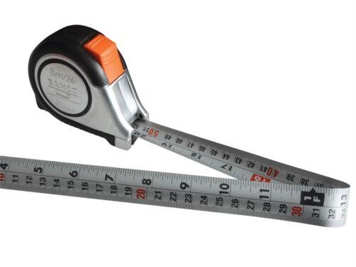 25 mm Bahco MTS réversible tête magnétique Auto Bande de poche 8m//26ft bahmts 825E