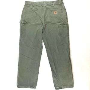 CARHARTT-Size-38x32-Mens-Green-Original-Dungaree-Fit-Jeans