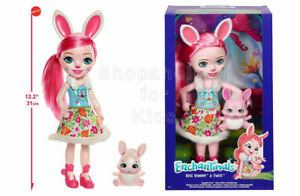 SFK Enchantimals Huggable Cuties Bree Bunny Doll and Twist Figure toy girl