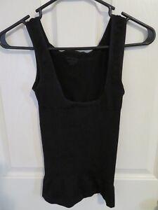New Women's Jones New York Black Camisole Shapewear Tank Top Cami Size Medium