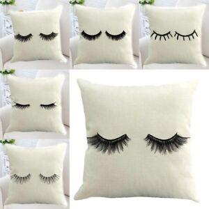 Linen-Cotton-Eyelash-Pillow-Case-Throw-Cushion-Cover-Home-Bed-Sofa-Decor