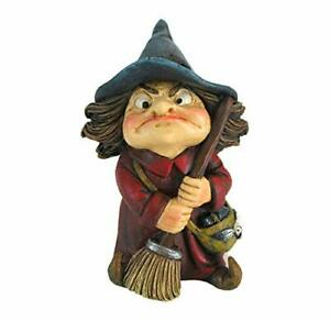 Toil Witch Figurine - Cute Little Witch with Broom Ornament