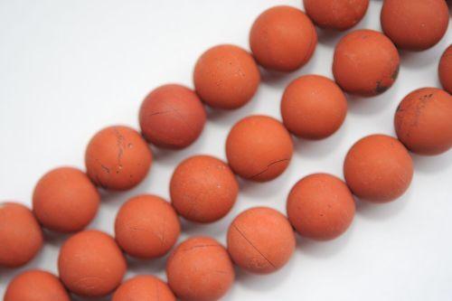 S7-16 10 mm rojo jaspe balas Strang Matt
