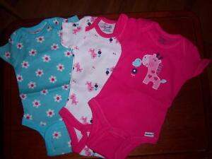3-New-Girl-039-s-Gerber-Onesies-Baby-Shower-Newborn