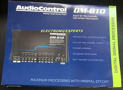 Details about AUDIOCONTROL DM-810 8 channel Digital Signal Processor  Ultimate EQ Crossover NEW