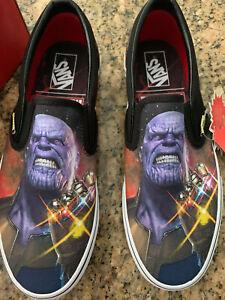 Marvel Vans Slip On Skate Shoe Thanos Infinity War Boutique