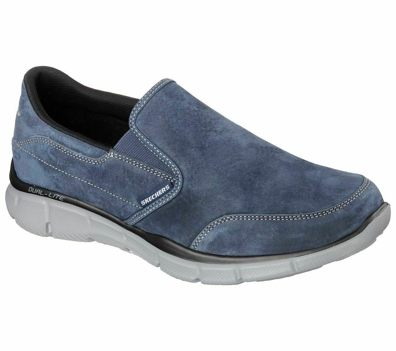 Skechers 51502 NVY Navy Mens Casual Comfort Slip On Suede Memory Foam schuhe