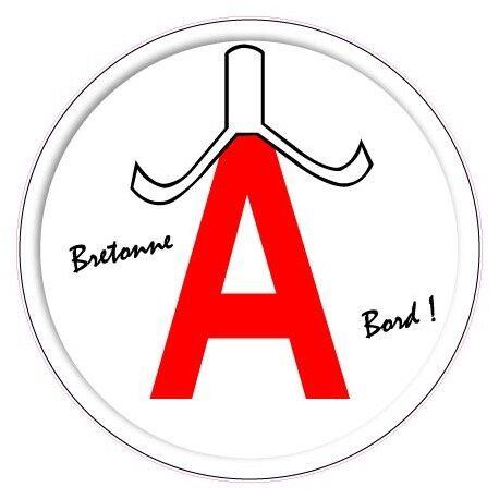 A jeune conducteur apprenti autocollant sticker Bretagne coiffe bigoudene logo6